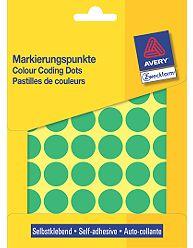 Kulaté etikety AVERY na různá značení, průměr 18 mm, 96 ks, zelené - 3376