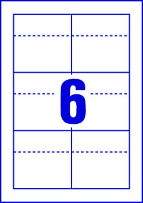 Snímatelné ohebné etikety AVERY na regály, 85 x 55 mm, 10 listů, bílé - C32301-10