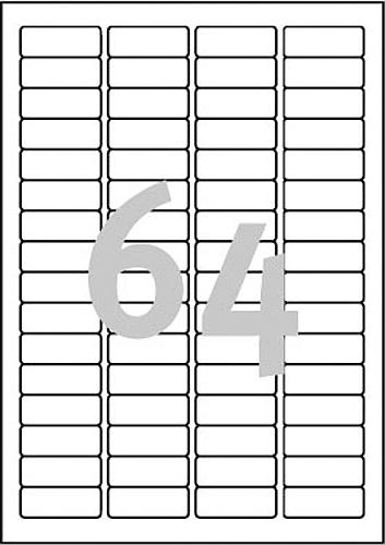 Snímatelné záložky Stick & Lift na závěsné složky AVERY pro dlouhé pořadače, 45,7x16,9 mm, 25 listů, A4, bílé - L6021REV-25