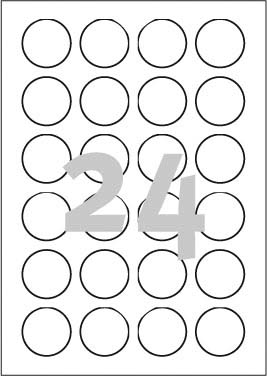 Print etikety PRINT1, průměr 40 mm, 100 listů, A4, neonově žluté - od 3ks